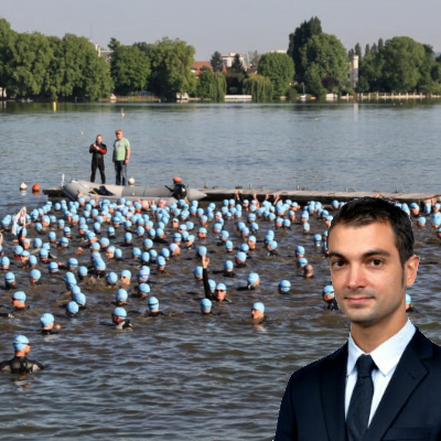 Antoine fait un triathlon au profit de SEED Foundation